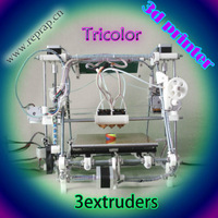 He3D-triclor reprappro mendel multicolor tricolor  3d printer  kit  diy  open sourse Christmas sale printer 3d colors