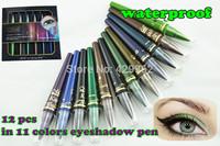New 2014 Brand Makeup M.n Eye Shadow Pencil 11 Colors /lot  Waterproof Eyeliner Pencil Make Up Eyeshadow Cosmetics Pen Eyes Lady