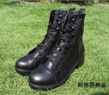 2014 New arrival winter Riding boots fashion vintage buckle genuine leather martin boots women motorcycle boots