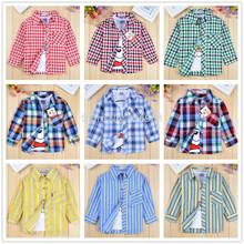 2014 nuevo algodón bebé camisetas niños niños usar para la primavera ropa de manga larga rayas niñas ropa para otoño- verano 2- 8t(China (Mainland))