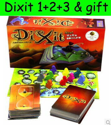 dixit 168 cards 1+2 version card game mtg board games multiple launguage instructions free shipping(China (Mainland))
