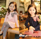 2013 New autumn children clothing suits ,girls clothes sets,child cotton sportswear set, girl casual suit, kids fashion wear(China (Mainland))