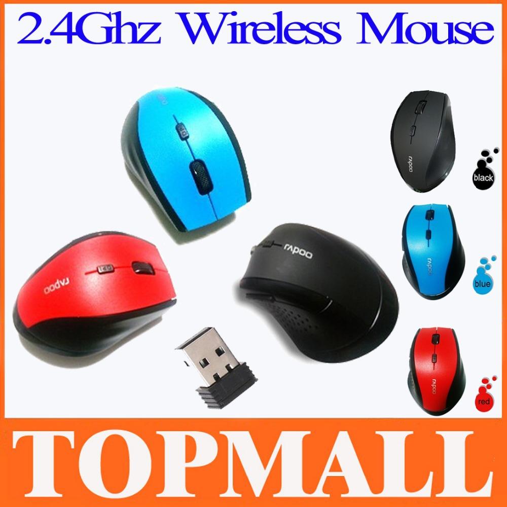 Portable Computer accessories Bazalias Gaming optical Mini Mice Mause 2.4GHZ USB For Laptop Rapoo 7300 Wireless Mouse Ergonomic(China (Mainland))