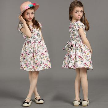 Горячая! новый 2105 нова детской одежды лето девочка платье цветок лоскутное макси платья детская одежда детская одежда. 3 цвет