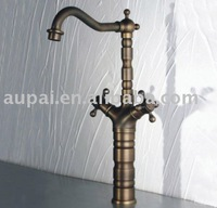 360 Degree Rotating Solid Brass Antique Kitchen Faucet  - Free Shipping (F-5005)