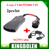 2013 [Quality Warranty] PP2000 Lexia 3 Lexia-3 Lexia3 Citroen&Peugeot Diagnostic Tool DHL HK Post Free Shipping