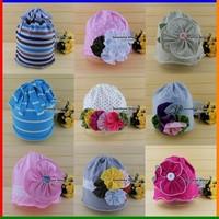 baby boys hats flower gorro bebe  TOP  bone!cotton girls summer beanies AMOUR/Girls/flower cap #2B1501 10 pcs/lot (31 STYLES)