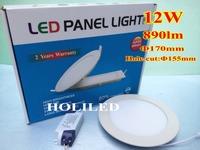12W LED panel light( 170mm dia,LED lumen890lm)3500k, 4500k,6500k, DHL freeshipping