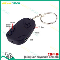50pcs Keychain DV 808 camera,Portable Car key cameras,Cheapest 720HD Mini DVR DHL Free Shipping