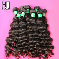 Queen Hair Products Brazilian Virgin Hair More Wave HJ Human Hair Weave 6A Virgin Brazilian Hair Bundles Mixed Length 3Pcs/Lot