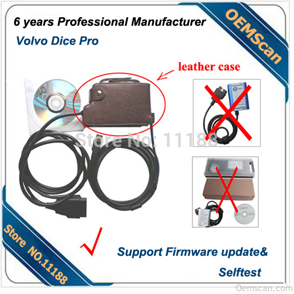 2013 Quality Volvo Vida Dice Pro not only J2534 but also Volvo Protocol Support Firware update and self test(China (Mainland))