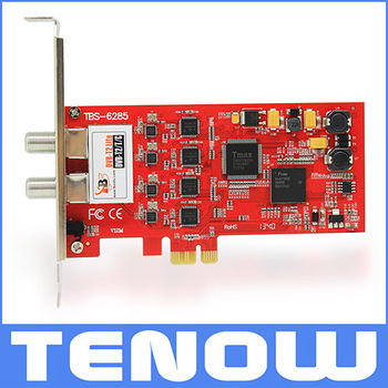New Arrival TBS6285 DVB-T2 PCIe Quad Tuner TV Card,Compatible with DVB-T2 Broadcast in UK(freeview),Sweden ,Ukraine,Denmark