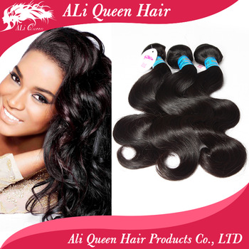 "Queen hair products:queen brazilian virgin hair body wave hair extensions 1pcs lot  10"" to34"" available"