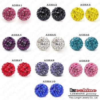 Big Promotion European Bracelet Bead Shamballa Crystal Beads Mixed Shamballa Beads 10mm AB Clay Crystal Shamballa Balls ASHAmix1