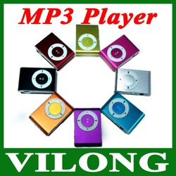 MP3 Player with Clip control 8 color support 8GB mp3 players cheapest MINI Flash Gift clip(China (Mainland))