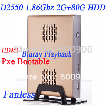 D2550 Intel Dual Core Four thread thin client atom mini pc dual core blu ray 1080P blu ray thin clients mini pc slim zero client