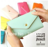 DHL Free Shipping!New PU Leather Crown Smart Pouch/mobile phone case/mobile phone pouch/mobile phone bag/card case/pu wallet