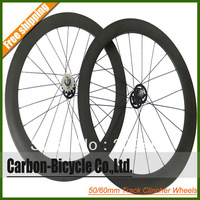 50mm+60mm clincher carbon fixed gear fixie bike wheels track bicycle wheelset flip-flop