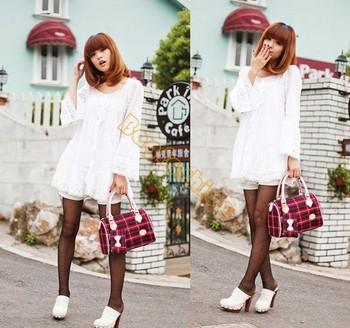 canvas tote bag Girls Women Handbag fashion Cross Baguette Satchel Sholuder Bag drop shipping 5205