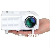 Free  shipping Home LED Mini Projector with 320*240 HDMI AV IN/USB/ VGA + Menu English, German, Spanish,Russian,portuguese