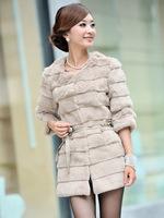 Best selling genuine rabbit  fur coat women nature rabbit fur jacket winter fur waistcoats DHL/EMS free shipping  TF053