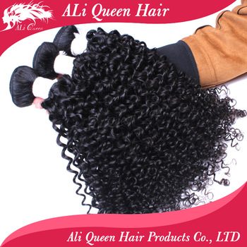 Free shipping 4pcs lot mix length each size 1pc, brazilian virgin hair bouncy curly wave unprocessed hair extension