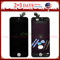 100% Guarantee For iPhone 5 5G LCD with touch screen Full set Assembly White or Black color Free shipping