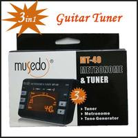 Guitar Tuner Hot Sale! Electronic Digital 3 in 1 LCD Violin Tuner Guitar Metronome Tone Generator Tuner Clip Free Shipping MT-40