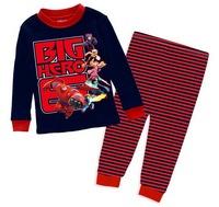 Boy's Cartoon Short Sleeve Pajamas Kid's Summer Pyjama Sleepwear Toddler Short Sleepsets, 6 Sizes/lot - GPA231/GPA232/GPA268