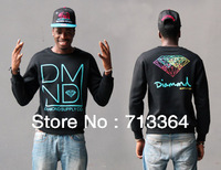 2014 new arrival Diamond mens Long sleve crew neck sweater turtleneck hoodie hiphop Sweater men