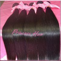 8''-28'' 2pcs/lot 100% Pure Virgin Peruvian Straight Hair Weave Natural Color