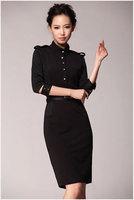 Spring 2014 New  Fashion  casual Women Dress Plus size side zipper vintage bodycon dress women wear brief dress Free Shipping