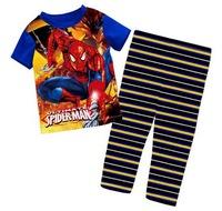 Kid's Big Size Sleepwear! 5 Sizes/lot for 7-11 Years Boy's Summer Cartoon Pyjamas Home Wear Sets - CMPA408/413/416/422/426