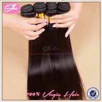 """She 6A peruvian virgin hair straight 4pcs free shipping,peruvian hair weaves natural black hair 8""""-30"""",soft human hair extension"""