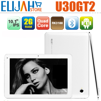 "In Stock! Cube U30gt2 Quad Core 10.1"" HD IPS 2G Ram 32g Memory Rockchip 3188 tablet PC Android 4.1 Bluetooth U30gt ii GT2(China (Mainland))"