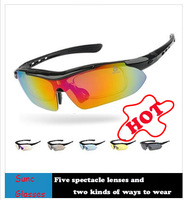Wholesale Suit bicycle glasses and driving polarized glasses, travel glasses bike sunglasses sports goggles free shipping
