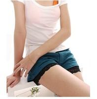 3PCS/ Lot Ice Slik Sexy Lace Brim Leggings Safety Hot Short Safety  Pants  B302