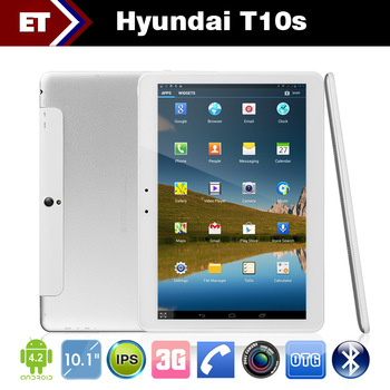 Original Hyundai T10s Built-in 3G Tablet PC MTK8389 Quad Core 1.2GHz 1G RAM Bluetooth GPS Phone Call WCDMA GSM Dual Camera 5.0MP