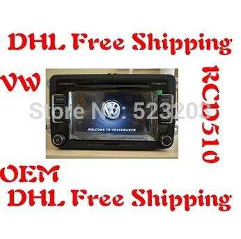 DHL Free Shipping VW Car Radio Stereo RVC RCD510 With Code For Golf 5 6 Jetta MK5 MK6 Passat B6 CC B7