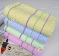High Quality hot sale 4pc/lot 32cm*70cm Plain 100% cotton towels,washer towel, soft towel (cheap and quality)