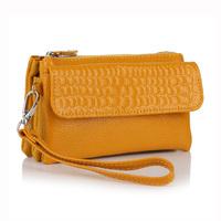 2014 women bag genuine leather wristlet evening clutch female stone pattern cosmetic purse messenger bags handbag,YB-DM608