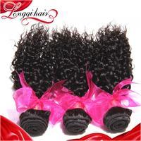4Pcs/Lot Grade 6a Xuchang Longqi Beauty Hair Products Brazilian Virgin Hair Weave Deep Curly Cheap Human Hair Extension LQBJC016