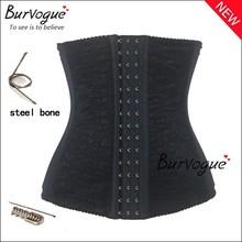 2015 venta caliente cintura corsés formación talladora underbust formadores de cuerpo faja de cintura cinturón shaper acero corsé negro para las mujeres(China (Mainland))