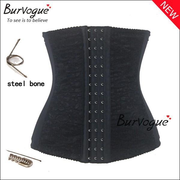 2014 hot sale waist training corsets shaper black underbust corset steel waist cincher shaper belt body shapers for women(China (Mainland))
