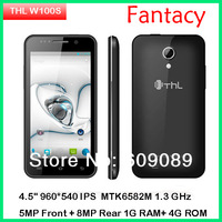 "Orignal THLW100S W100 Quad core Android phone MTK6582M 1.3GHz 4.5"" 960*540 IPS Android 4.2 WCDMA 3G Smart phone"