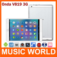 In stock Onda V819 3g Mini Allwinner A31s Quad Core tablet pc 7.9'' IPS Capacitive Android 4.1 1/16GB HDMI 5.0MP Dual Camera