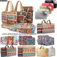 KinMac bohemia Leather laptop bag 14 15.6 17.3 for men,women laptop sleeve bag ,case for apple iPad mini macbook air /pro 13 15