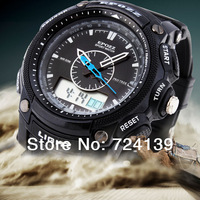 Relogio Men Sports Watches Waterproof Quartz Men Male Students Military Watch Black Silicone Date Week Watch Waterproof Freeship