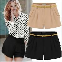 New 2014 Women Fashion Sexy Shorts Women Chiffon Shorts Women Candy Hot Pants Plus Size S-XXL 7 Color WHP001