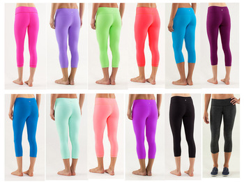 NWT---WHOLESALE LULULEMON WUNDER UNDER CROP,Discounted Lulu Candy Colors Crops/Yoga Capris/Legging for Women,Free Shipping